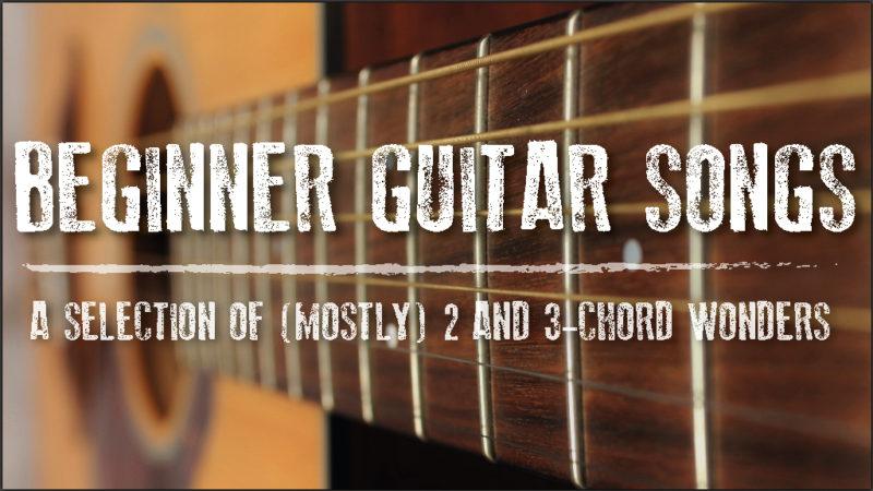 beginner songs to learn on guitar